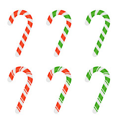 christmas candy cane isolated vector image