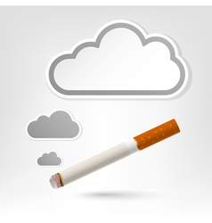 Cigarette background vector