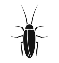 Cockroach insect icon simple style vector