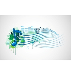 Colorful music background vector