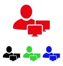 Computer administrator icon vector
