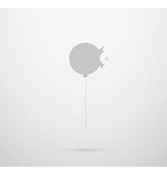 Cracked balloon silhouette vector