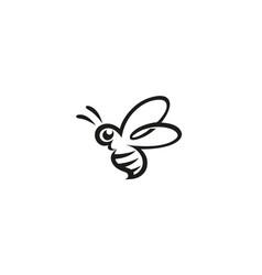 creative bee lines logo vector image