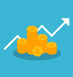 cryptocurrency and bitcoin digital marketing vector image