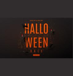 dark web banner for halloween sale vector image