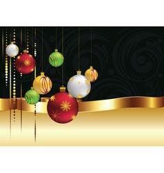 Decorative Christmas Ornaments4 vector image