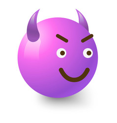diabolic smiley icon cartoon style vector image