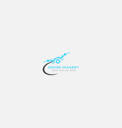 drone imagery logo design and modern style logo vector image