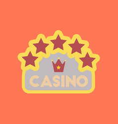 flat icon stylish background poker casino sign vector image