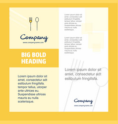 fork and spoon company brochure title page design vector image