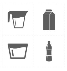 Four modern flat bar icons vector