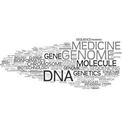 Genome word cloud concept vector