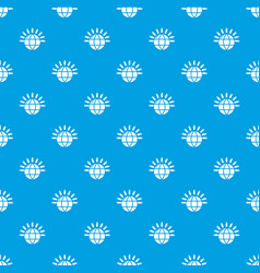 global communication pattern seamless blue vector image