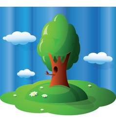 Glossy landscape vector
