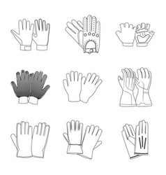 Glove and winter symbol vector