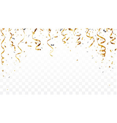 gold confetti background isolated on transparent vector image