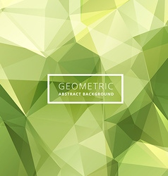 Green abstract poly background vector