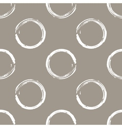 Grunge white circles on white coffee background vector image