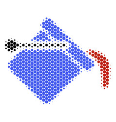 halftone dot paint bucket icon vector image