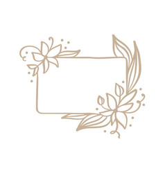 hand drawn square minimalistic frame with spring vector image