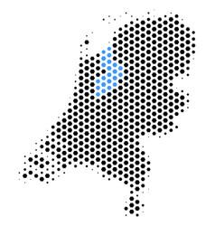 Hexagonal netherlands map vector