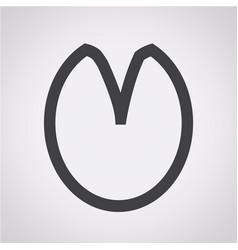 Horse footprint icon vector