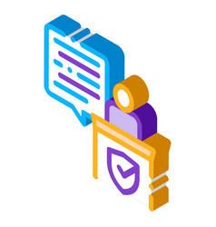 Judgement document law isometric icon vector