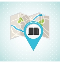 location of place on the map design vector image