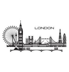 London city skyline 3 vector