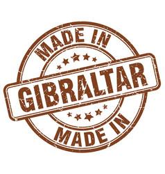 Made in gibraltar brown grunge round stamp vector