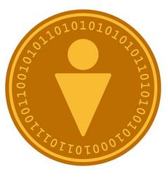 man digital coin vector image