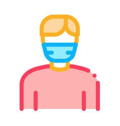 man facial mask icon outline vector image