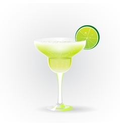Margarita realistic cocktail vector image