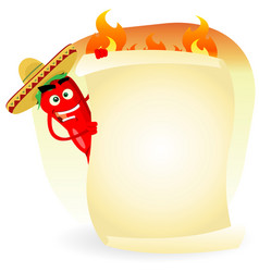 mexican food restaurant spice banner vector image