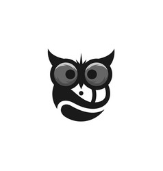 Owl logo template vector