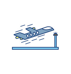 Plane taking off travel aviation transport airport vector