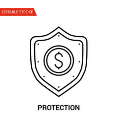 protection icon thin line vector image