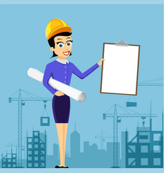 Realtor or architect holds document vector