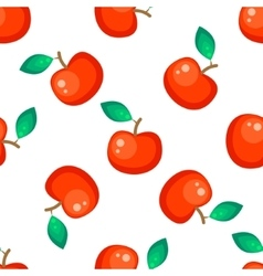 Red apple fruit seamless pattern vector image