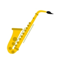 Saxophone flat icon vector