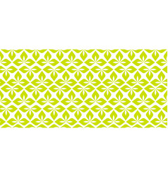 Seamless leaves pattern green ornament leaves vector