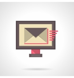 Sending mail flat color icon vector image