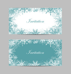 set banners with winter pattern vector image