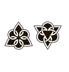 Set celtic knots traditional celtic ornament vector