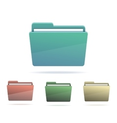 Set of Folders with papers vector