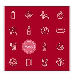 Set of Yoga Elements can be used as Logo or Icon vector