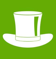 silk hat icon green vector image