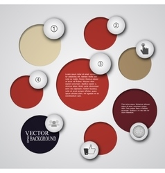 Simply infographic step by step template vector
