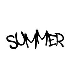 sprayed summer font graffiti with overspray in vector image