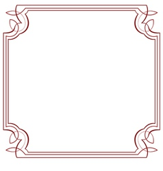 Square frame Element for design vector